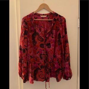 Silk blouse size 12 Rebecca Taylor